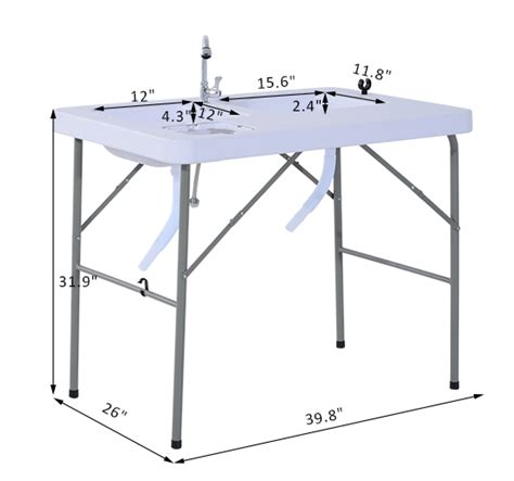 folding fish cleaning table portable folding fish cleaning cutting table outdoor