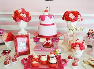 Red & Pink Hello Kitty Party - Little Wish Parties