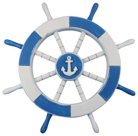 sailboat wheel wall decor light blue and white ship wheel with anchor 18 anchor