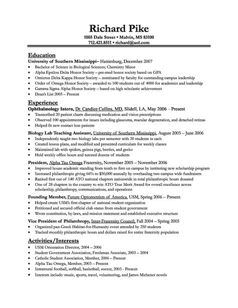 Usa Resumes Free Site by Exles Of Resumes Professional Federal Resume Format