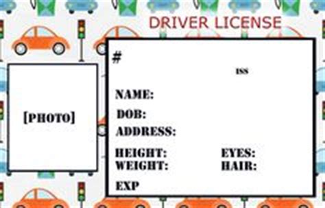 blank driver s license template for who want to 848 | 6def37c6609c8e3acc2096d6a7cdad40 kids cars drivers license