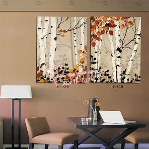 wall art designs best picks birch trees wall art for With wall paintings for home decoration