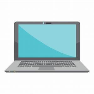Flat laptop icon - Transparent PNG & SVG vector