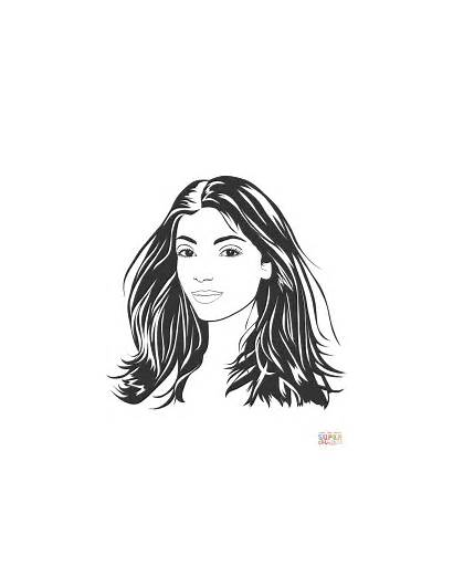 Coloring Pages Portrait Woman Drawing Supercoloring Printable