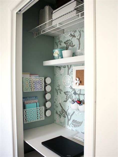desk in a closet utilize spaces with creative shelves interior design styles and color schemes for home
