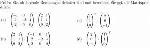 Molare Wärmekapazität Berechnen : produkt berechnen sie die matrixprodukte a 1 0 1 2 2 4 2 0 0 2 1 1 1 0 2 ~ Themetempest.com Abrechnung
