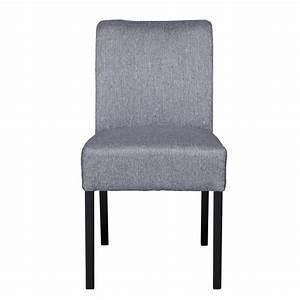 Chaise Tissu Noir : chaise tissu gris bois noir woood wieke ~ Teatrodelosmanantiales.com Idées de Décoration
