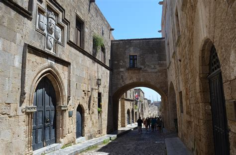 preserved medieval towns  europe rhodes
