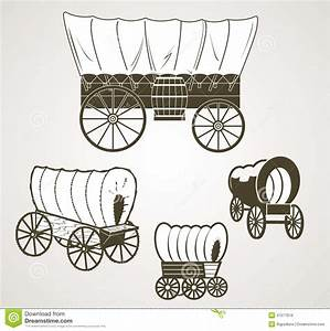 Covered Wagons stock vector. Image of barrel, west ...