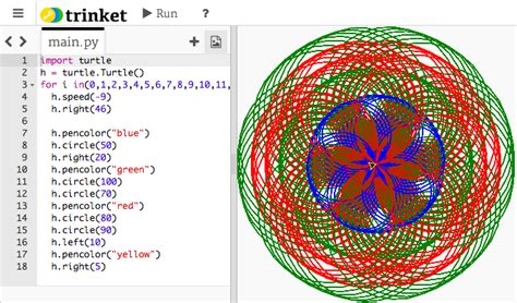 Python Code For Turtle Drawings,