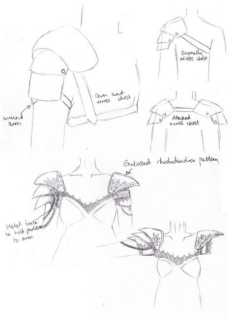 shoulder armor template leather shoulder armor pattern sketch coloring page