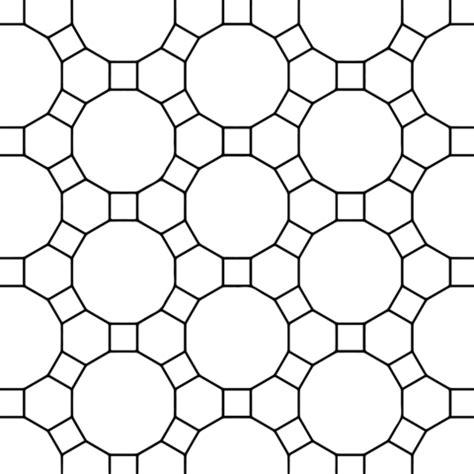 dibujo de teselado  hexagonos dodecagonos  cuadrados