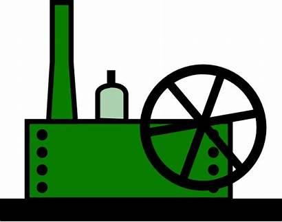 Manufacturing Factory Cartoon Clip Clipart Machine Vector
