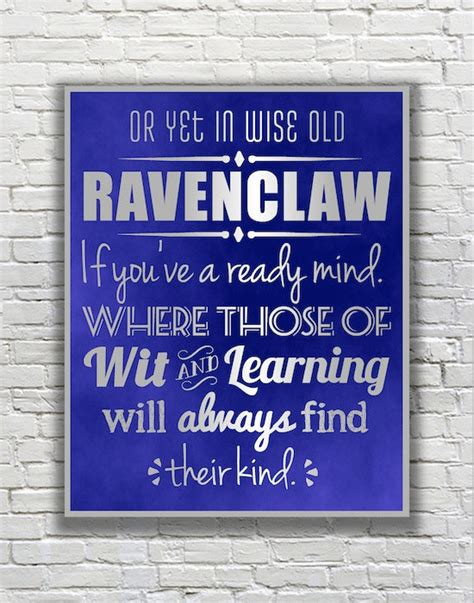 harry potter typography quote ravenclaw
