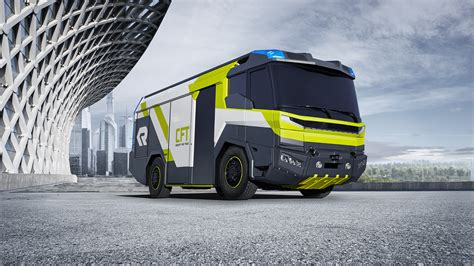 rosenbauer release blueprint for the future with the concept fire truck rosenbauer