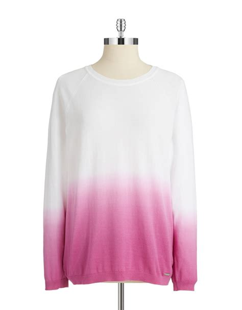 ombre sweater calvin klein ombre pullover sweater in purple lyst