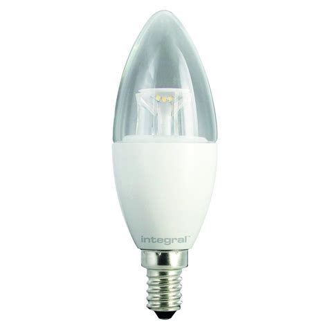 78 13 06 candle bulb 6 7w 40w 2700k 470lm e14 non dimmable clear l