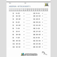 Math Addition Facts 2nd Grade