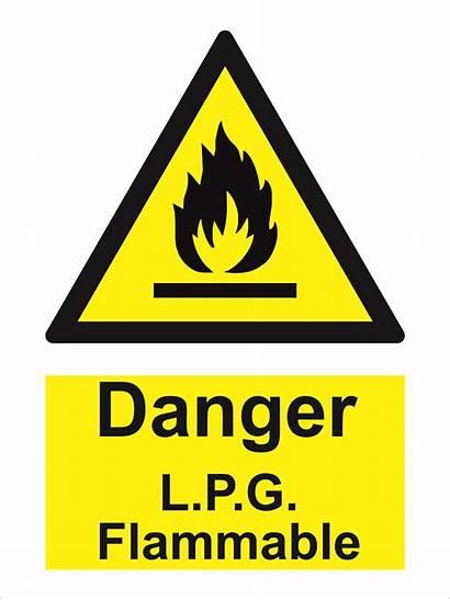 Sign Hazard Lpg Flammable Traconed Danger Liquid