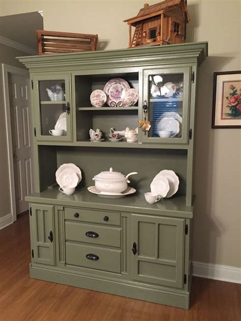 china cabinet in kitchen hutch makeover from golden oak to sloan chateau 5395