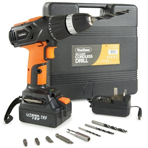 vonhaus  lithium ion cordless drill driver uk review