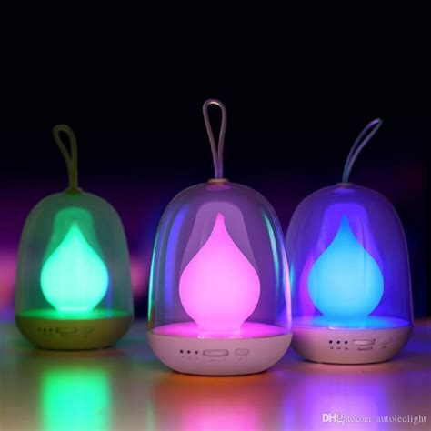 night light app with timer 2018 multi color led night l candle flame portable