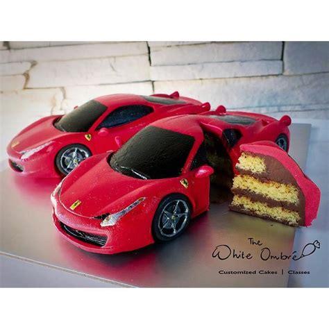 miniature ferrari  italia cake cake  nicholas ang