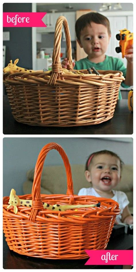 the wicker basket redo a tutorial spray painting wicker diy sprays
