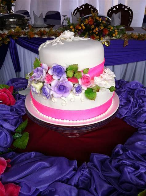 homemade sweet treats  tiers stacked wedding cake