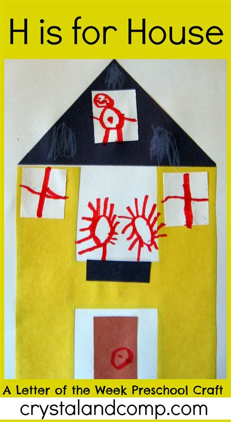 letter of the week h alphabet activities for preschoolers 930 | H is for House crystalandcomp