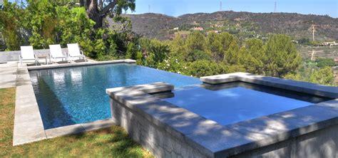los angeles vanishing edge pool design w elevated spa