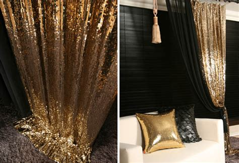 Gold Sequins Drop Curtain Decorative Metallic Drapery Coffee Tables Under 200 Table Covers Child Safety Zebra Wood With Leather Top Round And End Wooden Crate Strange Expresso