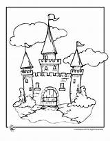 Castle Coloring Cinderella Pages Disney Drawing Printable Princess Castles Colouring Cartoon Draw Simple Walt Barrel Racing Fairy Activities Cartoons Tale sketch template