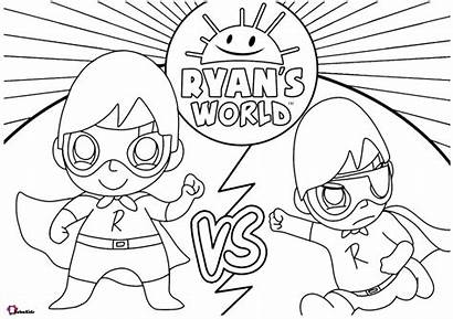 Coloring Ryan Colouring Printable Cartoon Ryans Worksheets