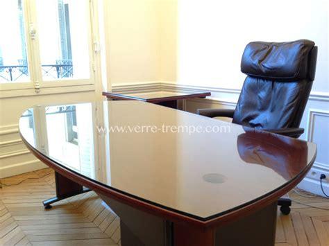 bureau en verre trempé verre trempé clair sur mesure verre trempé sur mesure