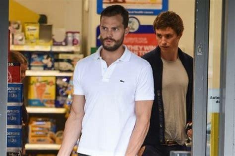 Film star mates Jamie Dornan and Eddie Redmayne pictured ...