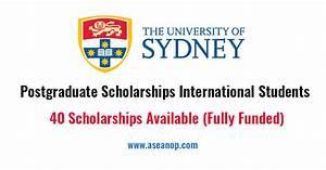 40 Postgraduate Scholarships International Students at ...