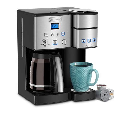 It comes with a matte finish look that enhances the look of your kitchen with its greatness that brews your preferred coffee. Cuisinart SS-15 12-Cup Coffee Maker & Single-Serve Brewer, Stainless Steel 86279090645 | eBay