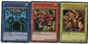 Free: YUGIOH THREE EGYPTIAN GOD CARDS HOLO LIMITED EDITION ...