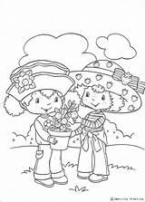 Shortcake Strawberry Orange Blossom Coloring Pages Print Charlotte Coloriage Hellokids Erdbeer Fleur Emily sketch template