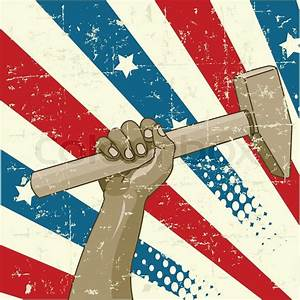 Design For Labor Day With Worker U2019s Hand Holding A Hammer