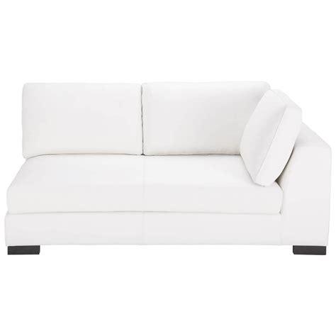 canape convertible cuir blanc canapé convertible modulable droit en cuir blanc terence