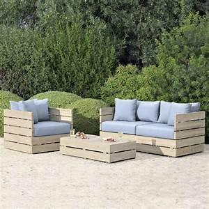 Canape De Jardin En Bois : canap de jardin pour la d tente l 39 ext rieur ~ Dallasstarsshop.com Idées de Décoration