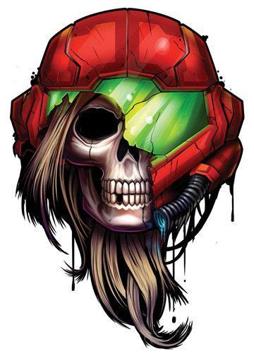 Metroid Game Over Temporary Tattoo Game Character