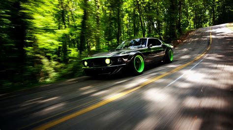 Car, Ford Mustang, Ford Mustang Rtr X, Road, Motion Blur