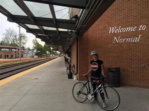 Student Studying, Testing New Train-Bike Service | WGLT