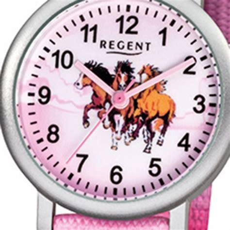 regent kinder armbanduhr pferde quarz aluminium textil