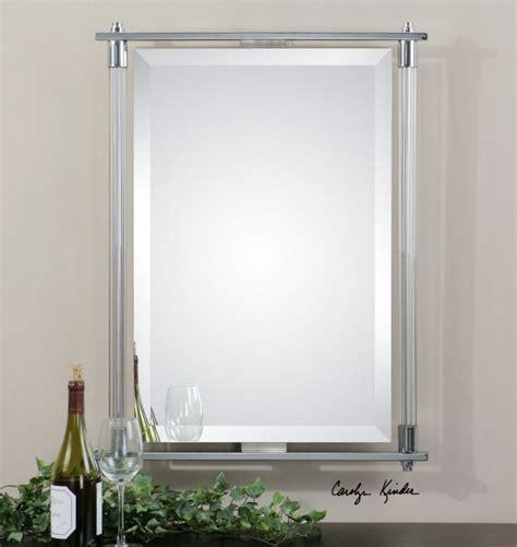 Uttermost Bathroom Mirrors by Uttermost Adara Vanity Mirror Ribbed Glass Columns