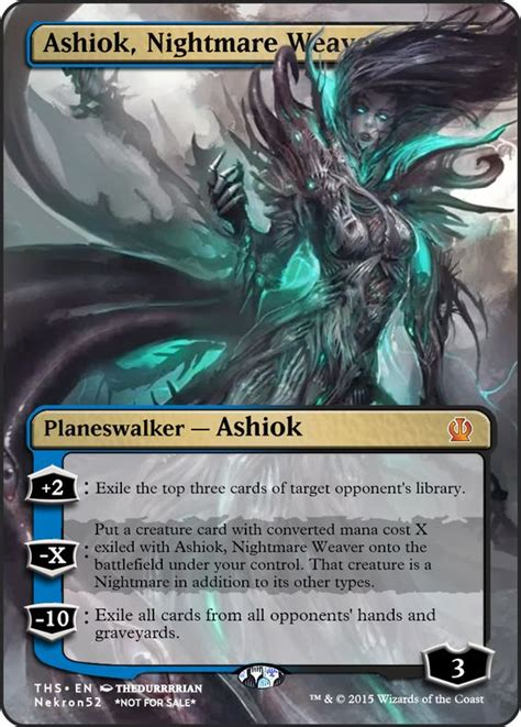 ashiok nightmare weaver deck ashiok nightmare weaver mtg card proxies