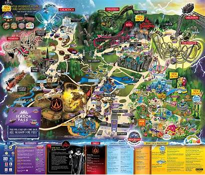 Alton Towers Maps Map Park Theme Looking